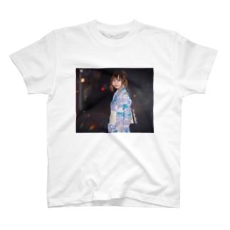 彼女と花火デートなうTシャツ T-shirts