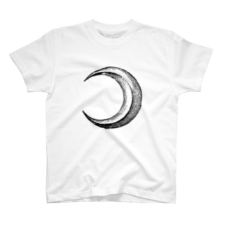 月(Moon)_BlackPrint T-shirts