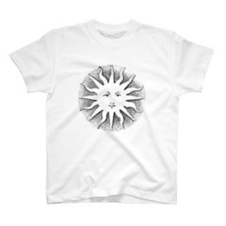 太陽(Sun)_BlackPrint T-shirts