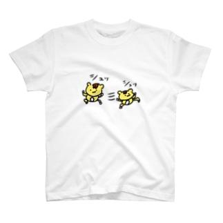 シュッL('ω')」三L('ω')」シュッ T-shirts