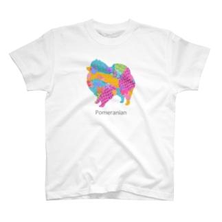 AtelierBoopのアレグリヘ ポメラニアン T-shirts