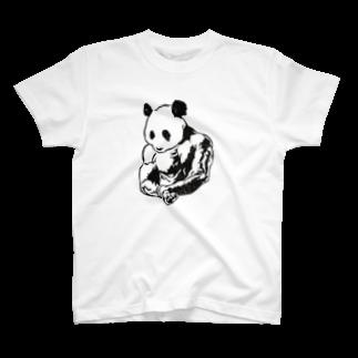 tanamaru_pandaのマッスルパンダ T-shirts
