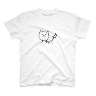 不敵な犬線画 T-shirts