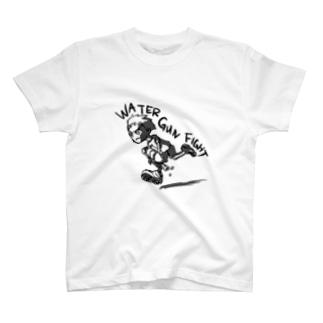 Water Gun Fight T-shirts