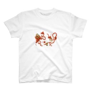 いくらこぼしても気にならないイラスト T-shirts