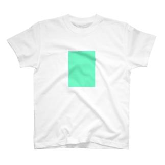 エメラルドグリーン 長方形 T-shirts