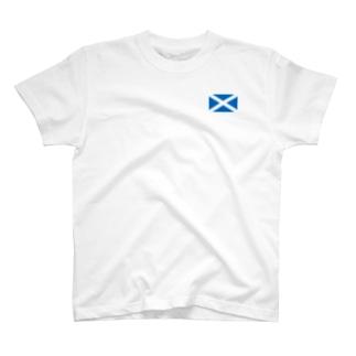 スコットランドの国旗 旗 flag T-shirts