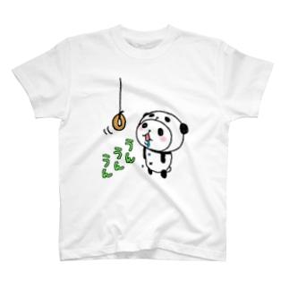 パンダinぱんだ(ドーナッツ) T-shirts