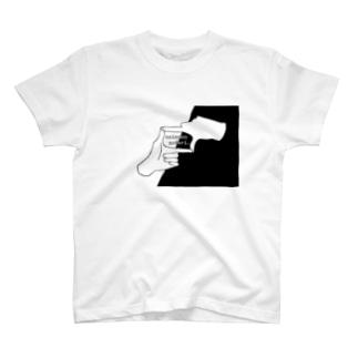 Hand Frame(Black) T-shirts