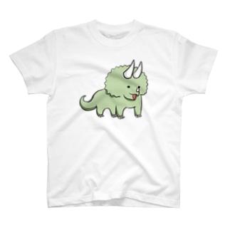 ものしりトリケラトプス T-shirts