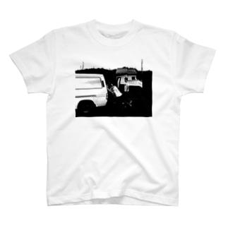 風流白黒Tシャツ T-shirts