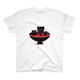 北海道のいくらとクマTシャツ T-shirts