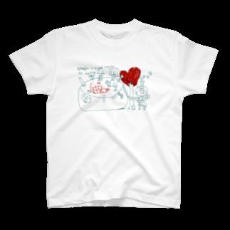 egu shopの読書と男の子と女の子 T-shirts