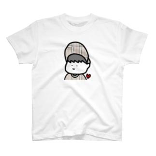 ぼうしのつばも人生もいつだって上向き! T-shirts