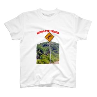 西表島 イリオモテヤマネコ 飛び出し注意   T-shirts