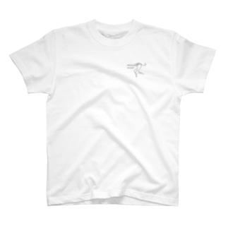 例のアオサギTシャツ T-shirts