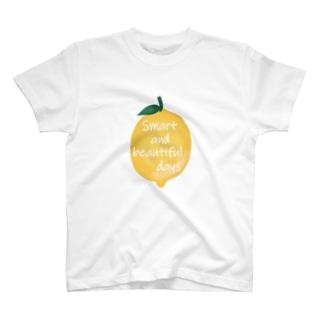 お洒落なシチリアレモン T-shirts