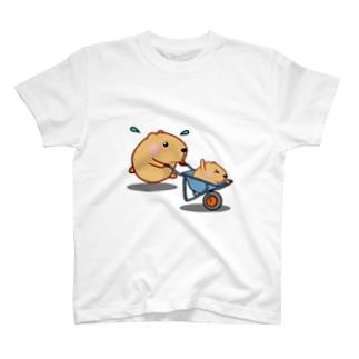 きゃぴばら【一輪車】 T-shirts