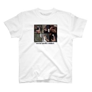 social media addict. T-shirts