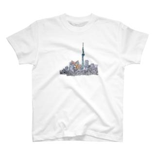 かいじゅうごっこの相手 T-shirts