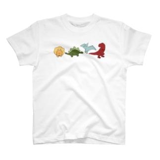ゆるい恐竜たち T-shirts