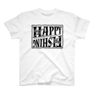 ハッピーフィッシング/クロ T-shirts