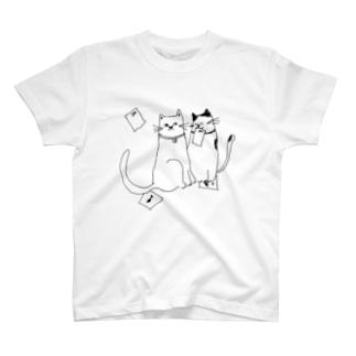 猫のおてがみ T-shirts