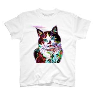 ねこ好きさんへ(両面にデザイン有) T-shirts
