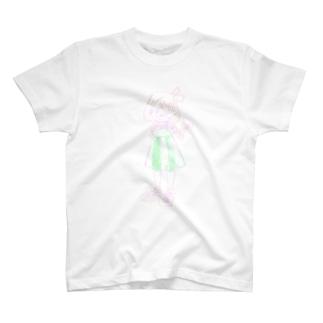 りぼんの女の子 T-shirts