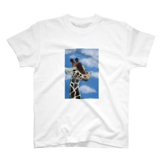 晴れの日のきりん T-shirts