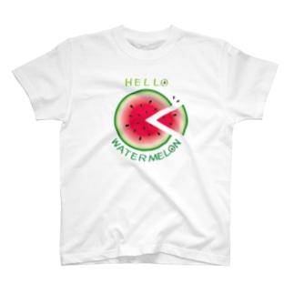 *suzuriDeMONYAAT*のCT36!スイカの輪切り T-shirts