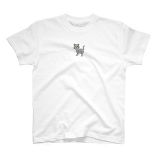 おさんぽこねこ(グレー) T-shirts