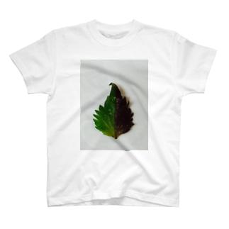 半分な紫蘇 T-shirts