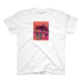墓地フレンズTシャツ 赤 T-shirts
