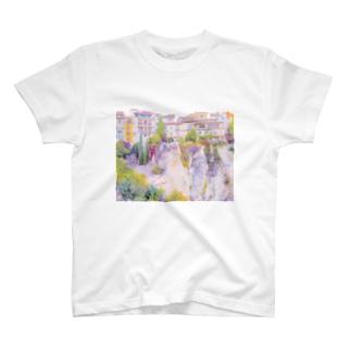 城塞都市 崖の街 風景 T-shirts