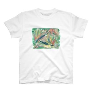 Asahi art styleの極楽鳥花 T-shirts