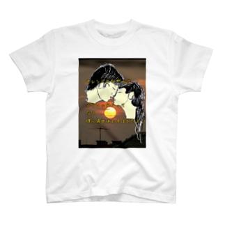 A-craft工房のオレンジのなぎさ T-shirts