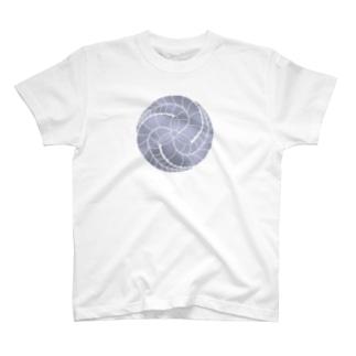 藤巴紋(藤色) T-shirts