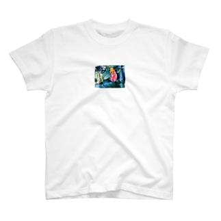 しおれ花 T-shirts