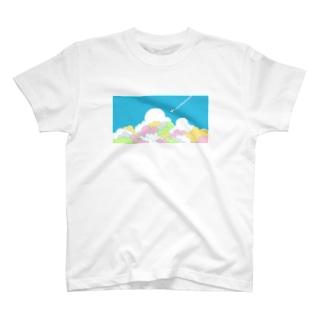 入道雲とひこうき T-shirts