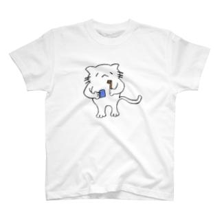 歯みがきするねこ T-shirts