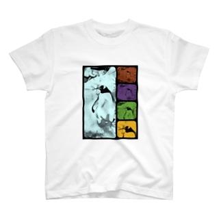 ペンギン[ダブル‐トーン(double tone)] T-shirts