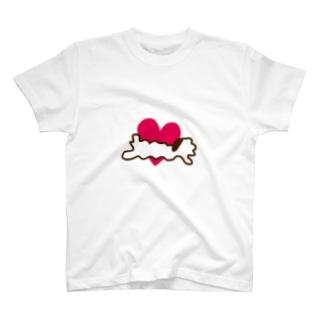 とろけふぃぐ一筆書き T-shirts