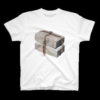Yusuke Saitohのくさりブロック T-shirts