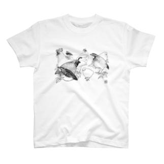 透月糖花の家禽ちゃんず T-shirts