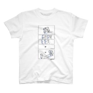 3Fから1Fまで降りる5コマ T-shirts