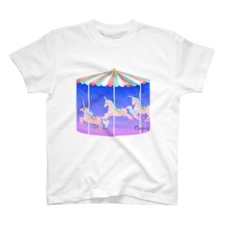 ユニコーンのメリーゴーランド T-shirts