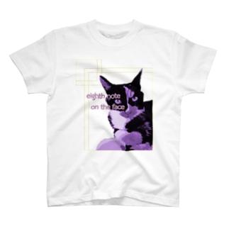 8分音符な猫 Ver.1 T-shirts