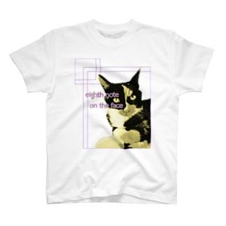 8分音符な猫 Ver.2 T-shirts