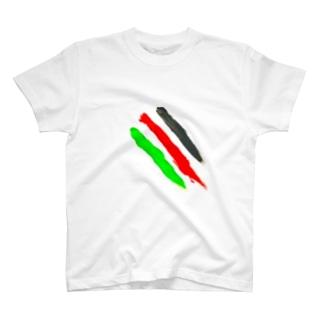 指線描き T-shirts